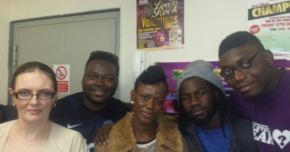 [PHOTOS] INSPIRATIONAL SINGER SOLA ALLYSON SPOTTED AT NAIJA FM LONDON