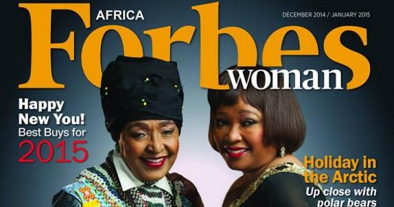 Winnie & Zindzi Mandela Cover Forbes Woman Africa December 2014/January 2015 Issue