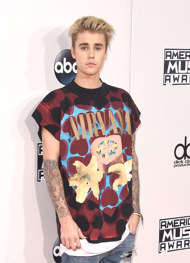 about justin bieber 39 s 39 fear of god 39 nirvana t shirt at the
