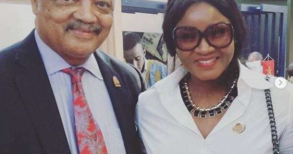 Actress Omotola Jalade Ekeinde Shares Stage With Activist Rev. Jesse Jackson
