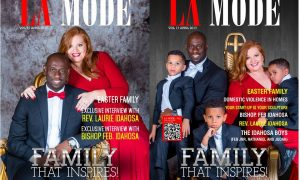 Family That Inspires! Bishop FEB Idahosa, Laurie Idahosa & Kids Are Adorable On The Cover Of La Mode Magazine