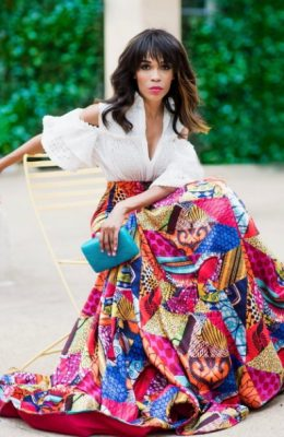 Church Clothes: Michelle Williams Elegant In African Fabric