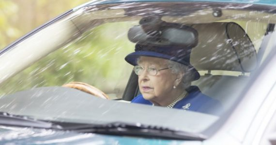 Queen Elizabeth II Spotted Driving Herself Back From Church