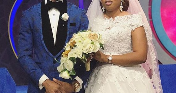 Video: Joepraize Gets All Teary Eyed Before Kissing Bride During Church Wedding – See Photos Too!