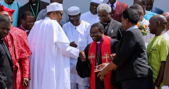 President Buhari Meets With Christian Leaders Inside Aso Rock
