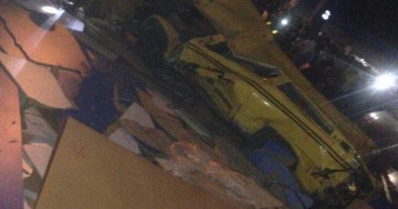 Truck Empties Plywood On Cars & Pedestrians Under Ojuelegba Bridge