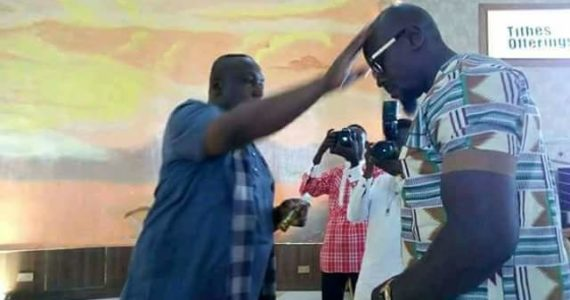 Imo State Governor Rochas Okorocha Anoints Worshippers During Service