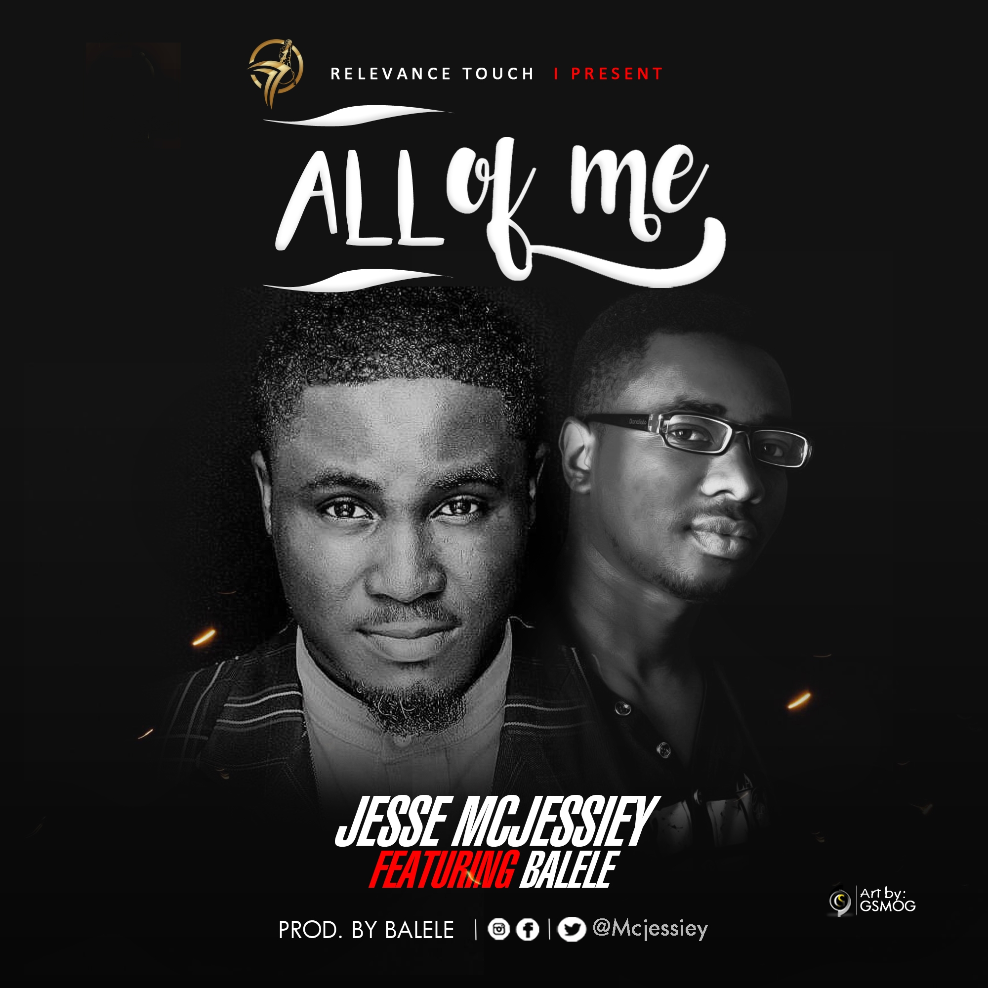 Download Music: Jesse Mcjessiey   All Of Me   Feat. Balele [@Mcjessiey]