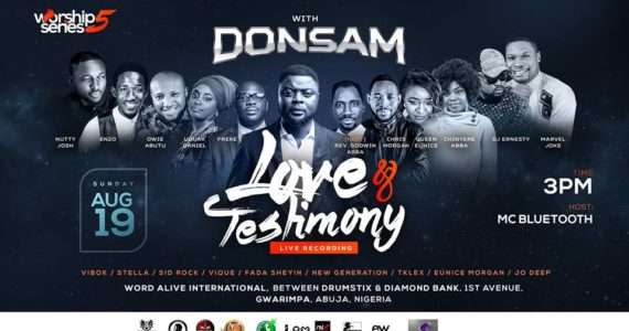 "Worship Series 5 With Donsam Tagged ""Love And Testimony"" 